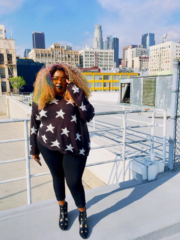 Amina Mucciolo Wildfox Black Star Sweater