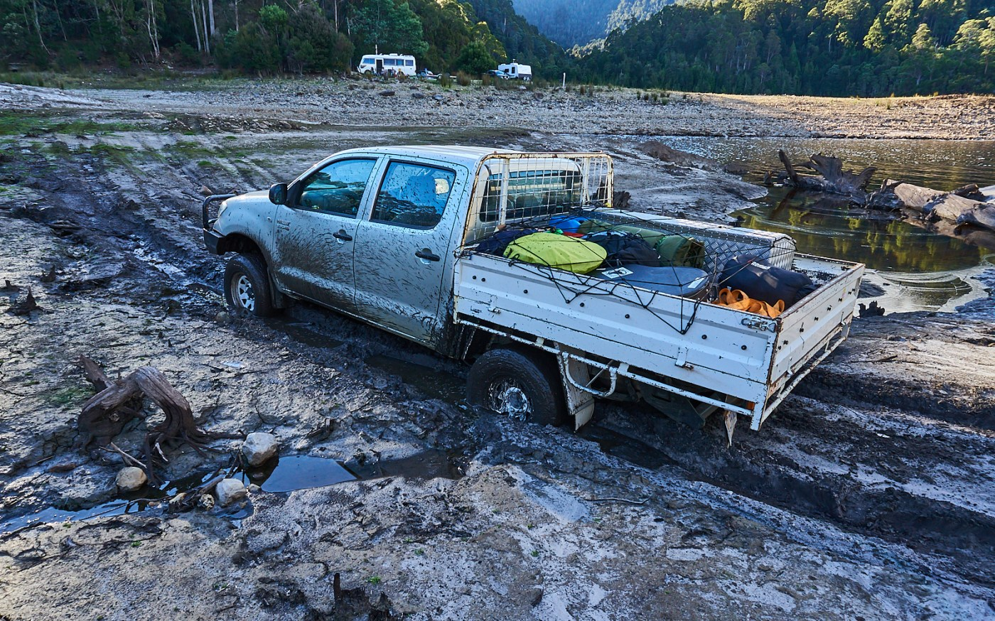 Hilux Bogged 1 - Mt Cripps.