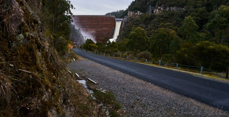 Cethana Dam Spillway 1