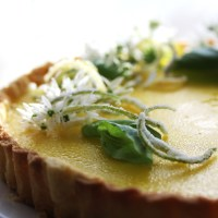 Lime, Lemon and Basil Tart