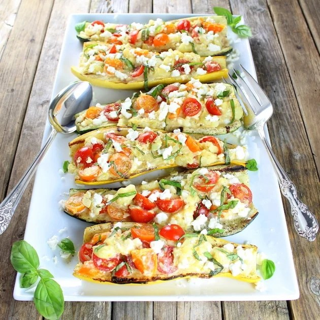 Tomato Feta Grilled Zucchini and Squash | Taste And See