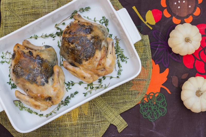 Olive & Thyme Butter Roasted Cornish Hens | Taste & Tipple