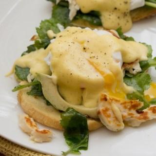 Halloumi Eggs Benedict | Taste and TIpple