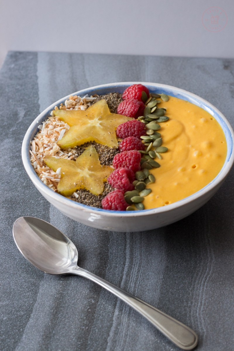Tropical Turmeric Smoothie Bowl | Taste and Tipple