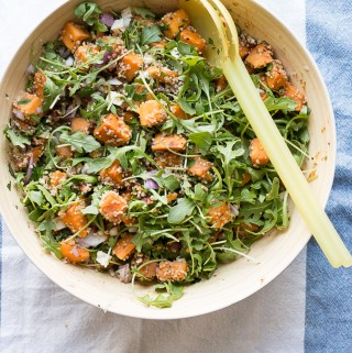 Maple Balsamic Sweet Potato Quinoa Salad