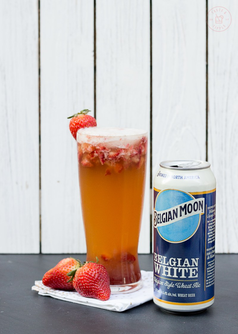 Peppered Strawberry Balsamic Shandy | Taste and Tipple