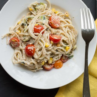 Goat Cheese Pasta Primavera | Taste and Tipple