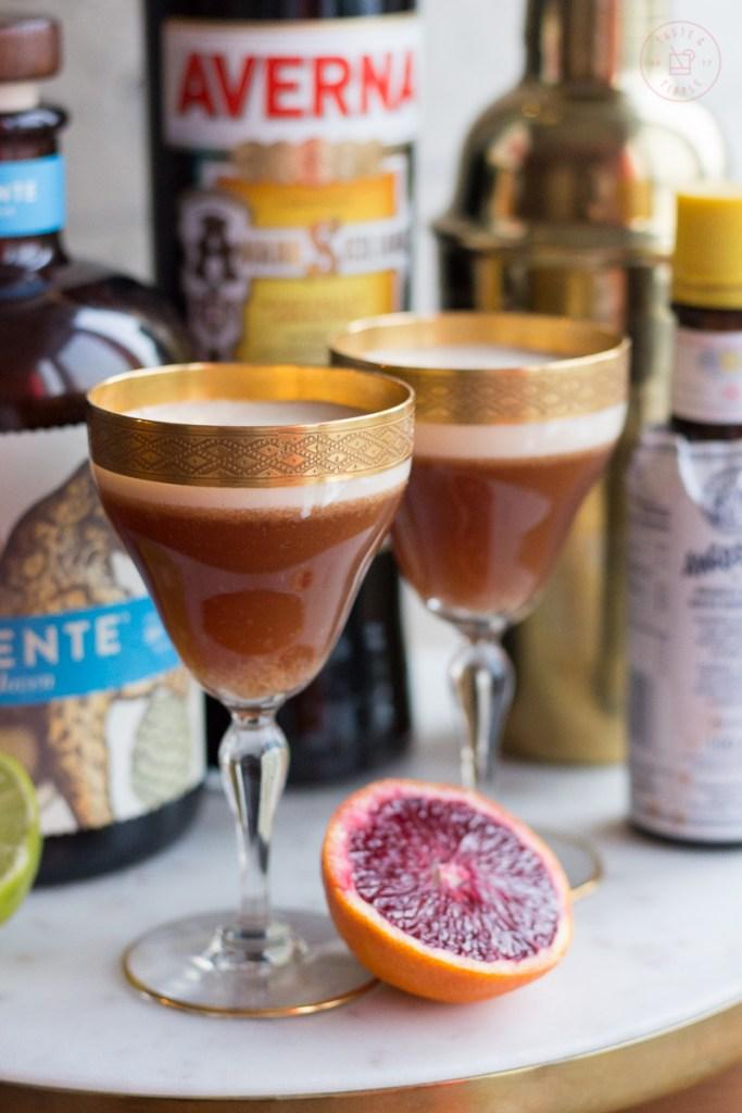 Blood Orange Mezcal Sour   Taste and Tipple
