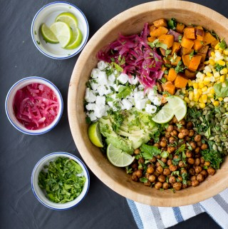 Chickpea Taco Salad | Taste and Tipple
