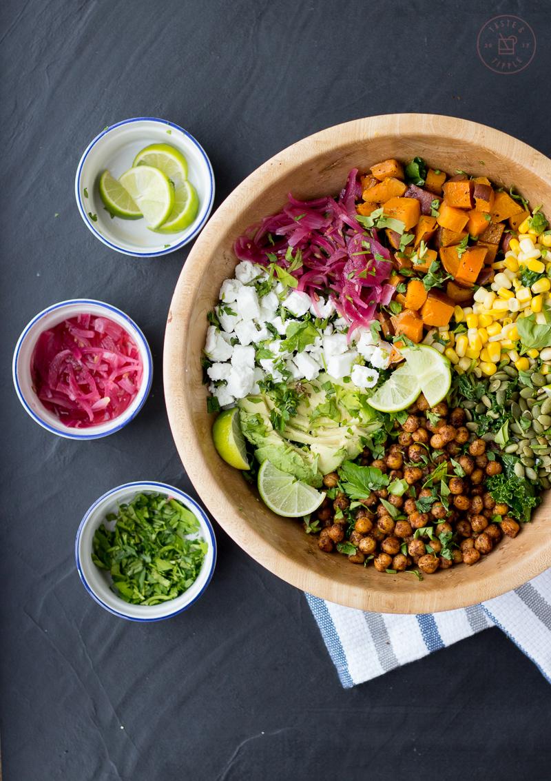 Chickpea Taco Salad | Taste and Tipple