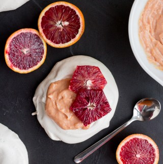 Vanilla Pavlova with Blood Orange Curd | Taste and Tipple