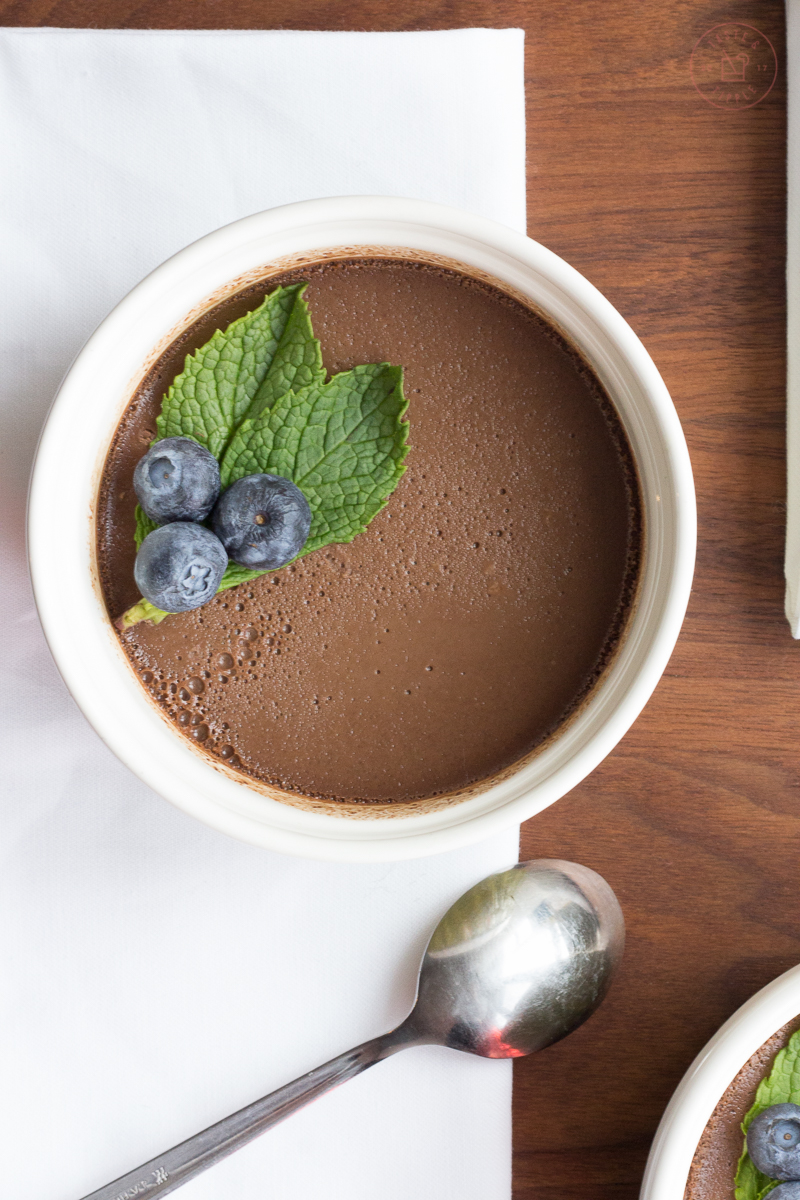 Chocolate Balsamic Pots de Crème | Taste and Tipple