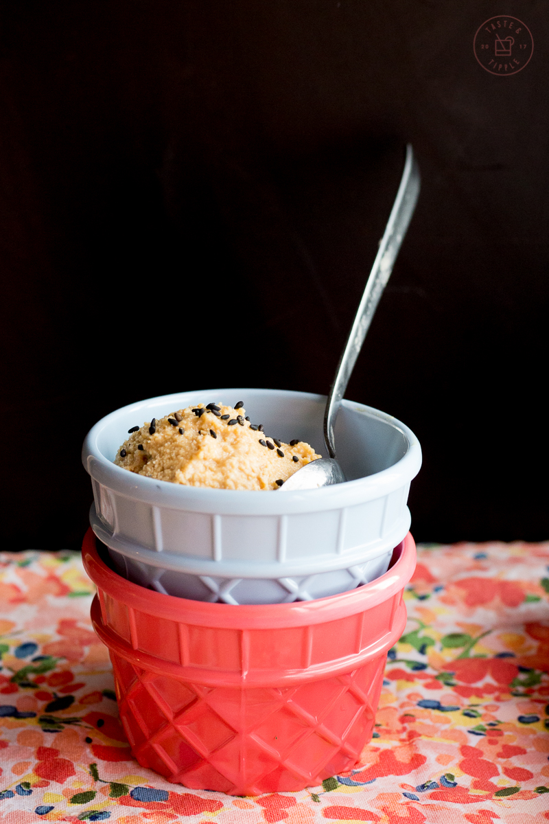Salted Caramel & Tahini Ice Cream | Taste and Tipple
