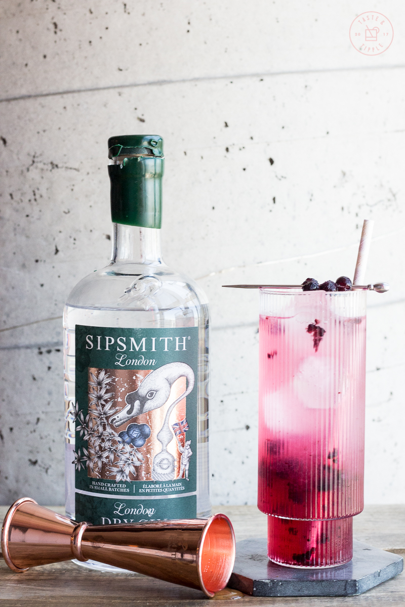Honey Blueberry Collins | Taste and Tipple