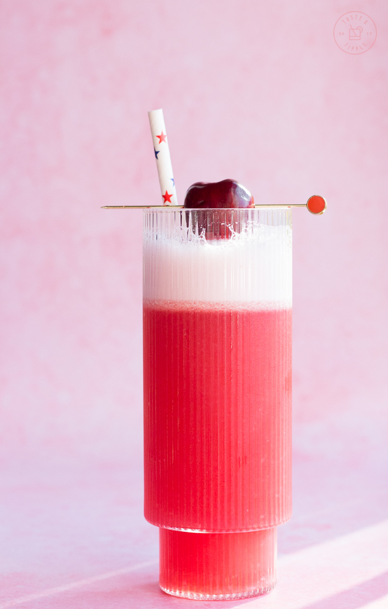 Cherry Bourbon Sour | Taste and Tipple