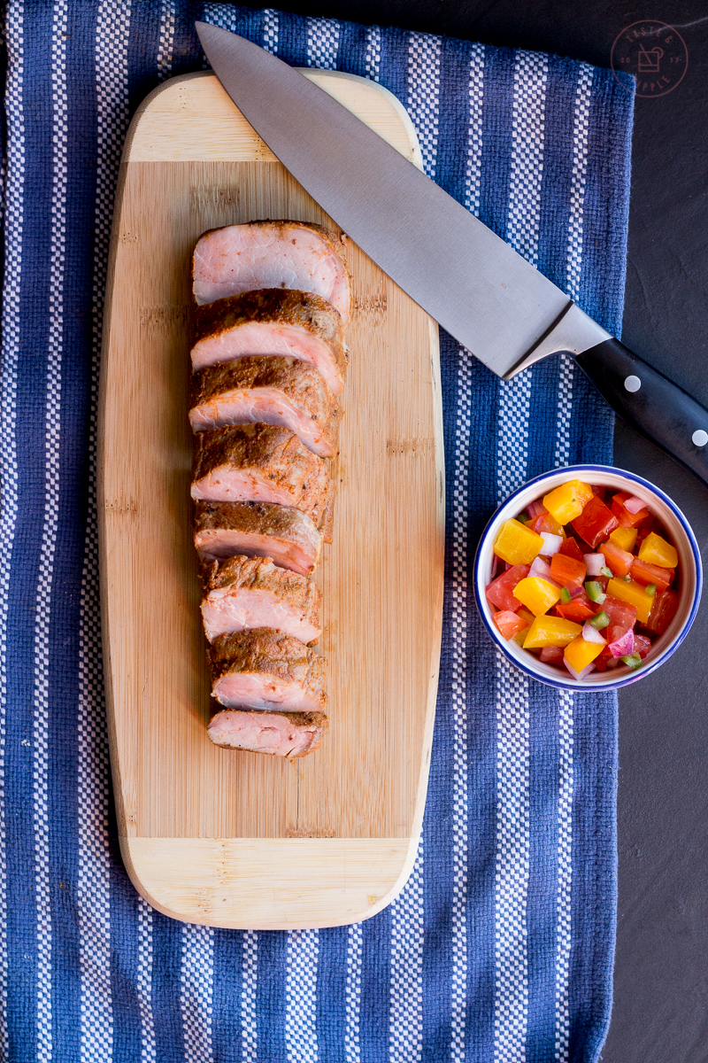 Sous Vide Chili-Rubbed Pork Tenderloin with Fresh Salsa | Taste and Tipple