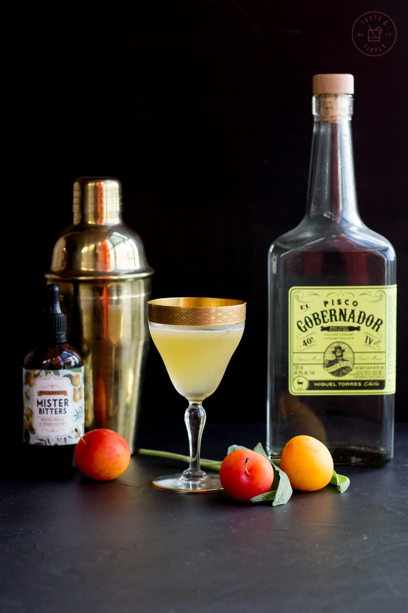 Pisco, Plum & Sage Cocktail | Taste and Tipple