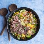 Thai Beef and Mango Salad on Vermicelli | Taste and Tipple