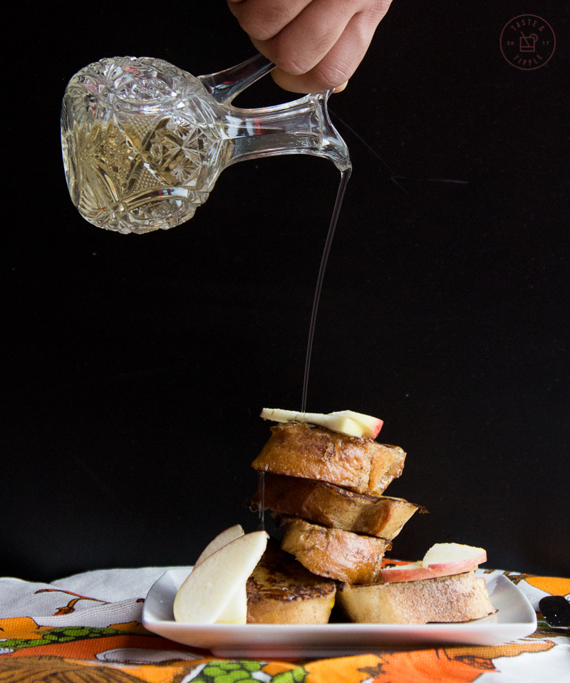 Apple Cinnamon French Toast with Aged Cheddar | Taste and Tipple