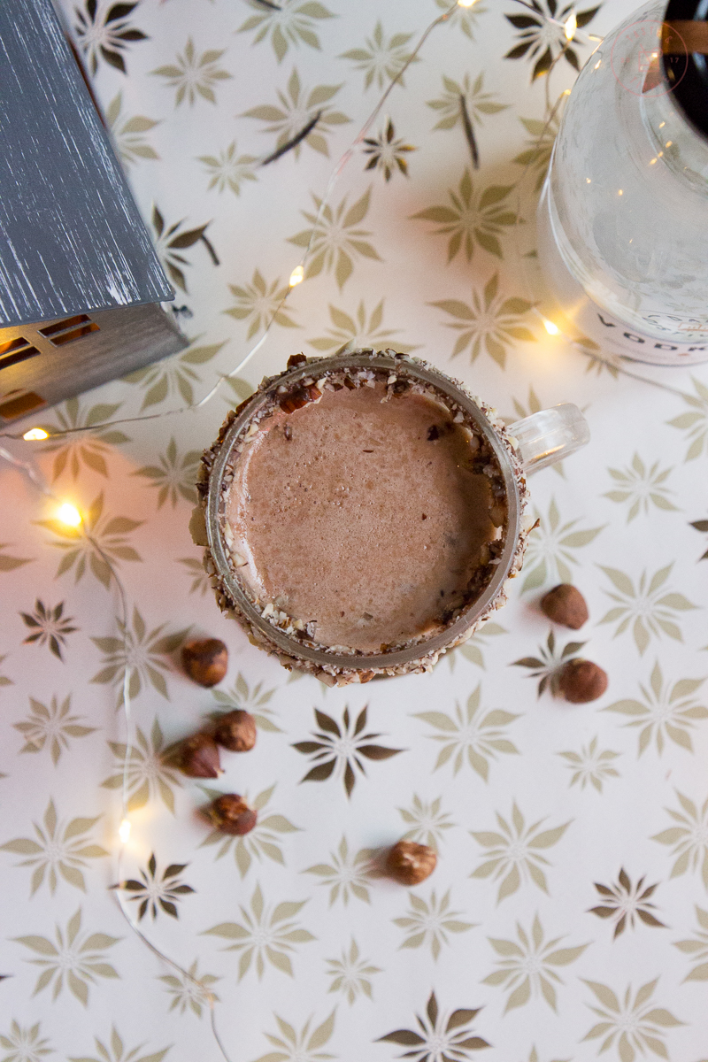 Boozy Hazelnut Hot Chocolate | Taste and Tipple