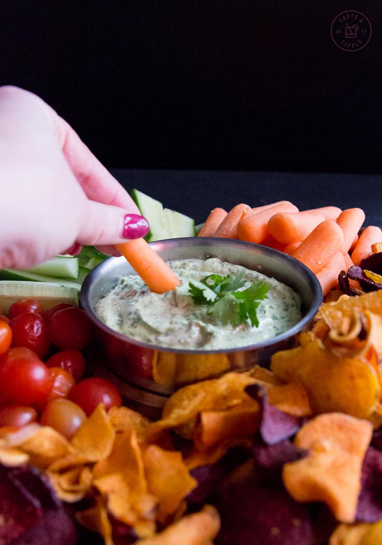 Avocado Cilantro Lime Dip | Taste and Tipple