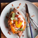 Bacon and Egg Sweet Potato Boat | Taste and Tipple