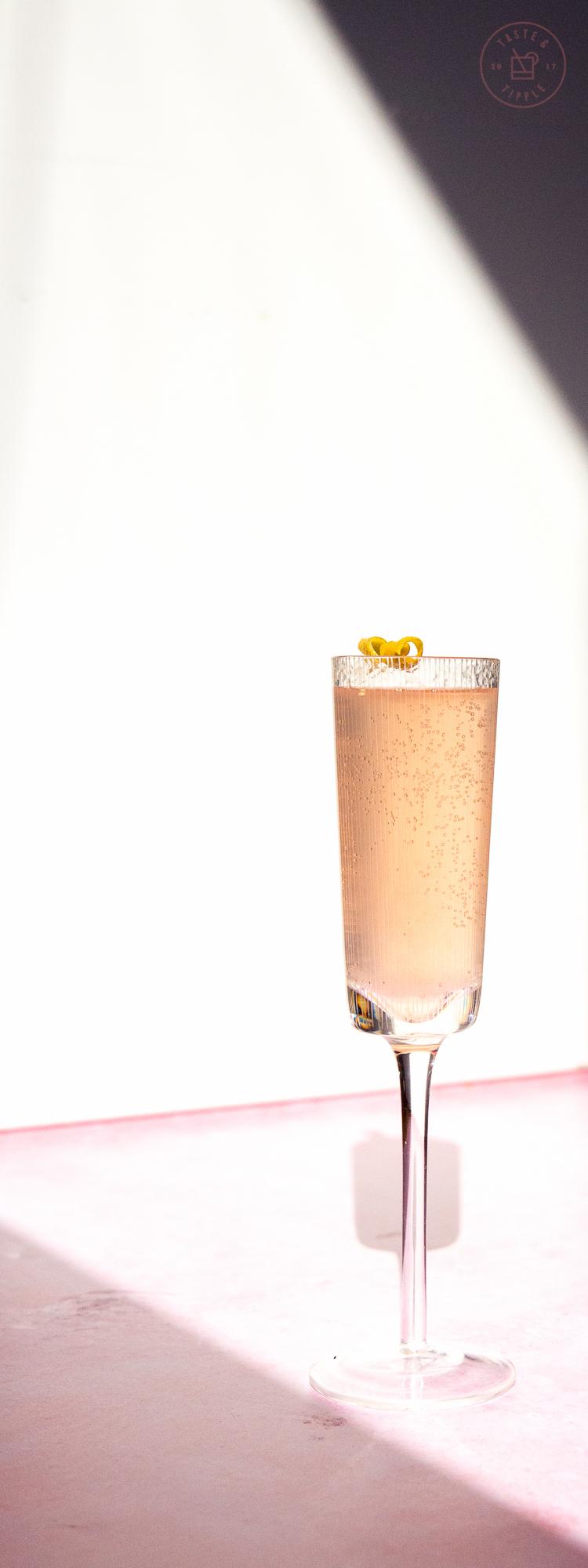 Elderflower Rosé French 75 | Taste and Tipple