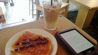 Iced Latte and Mandarin Toast at Berkeley Coffee Social