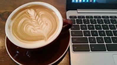Latte at Chansbros Coffee