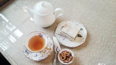Earl Grey Tea and Carrot Cake at Chloris