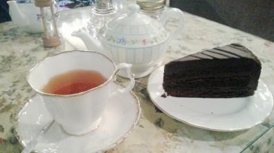 Earl Grey Tea and Chocolate Fudge Cake at Chloris