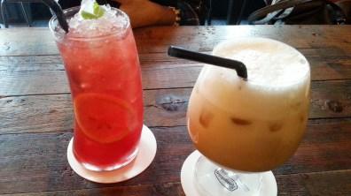 Vital Peach Tea Ade and Iced Chai Latte at Ronnefeldt Tee Haus