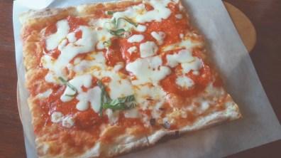 Chorizo Pizza at Trevia Pizza di Roma