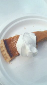 Pumpkin Pie with Yuzu Whipped Cream at Cali Kitchen