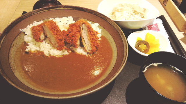 Curry Tonkatsu Set at Saboten
