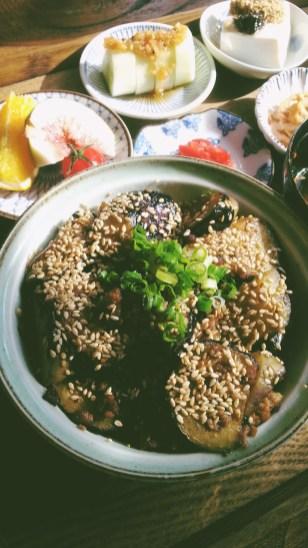 Pork and Eggplant Donburi at Mesiya