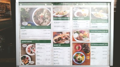 Le Saigon's Menu