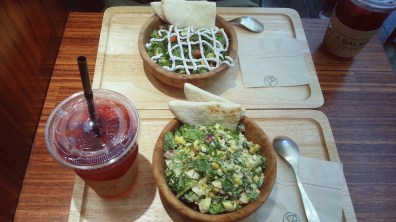 Avocacotta salad and Hola Spicy Salad at What A Salad