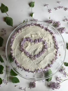 Lilac honey mascarpone