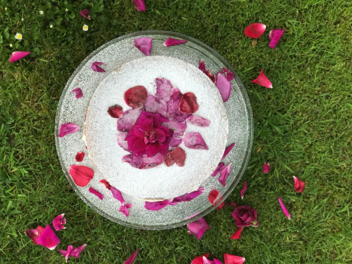Rose and Strawberry Cream Cake