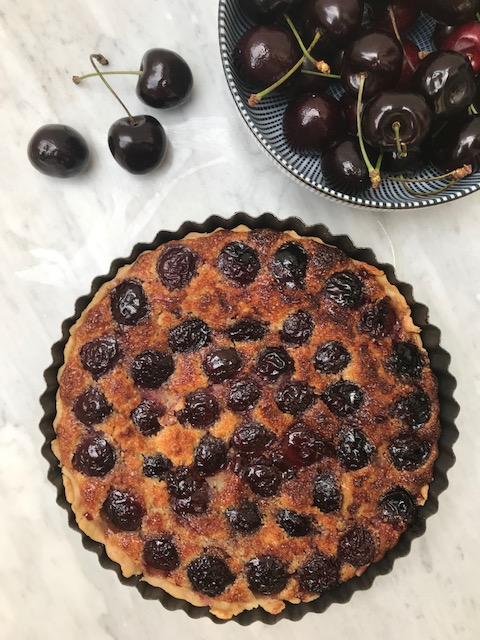 Cherry Tart recipe with frangipane filling
