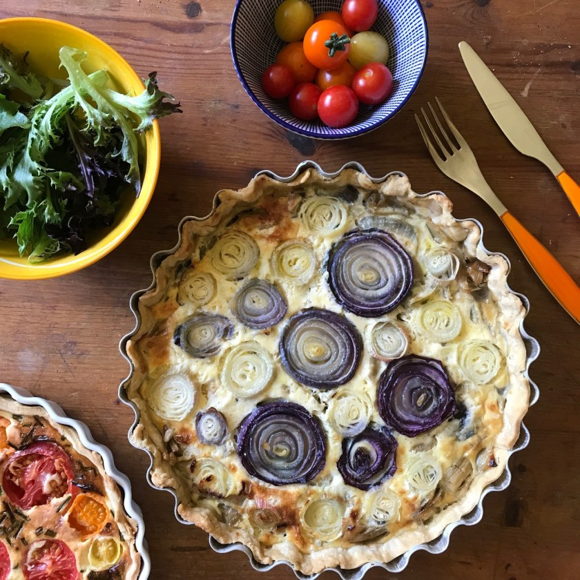 Caramelised onion tart, onion tart, onion quiche, caramelised onion quiche