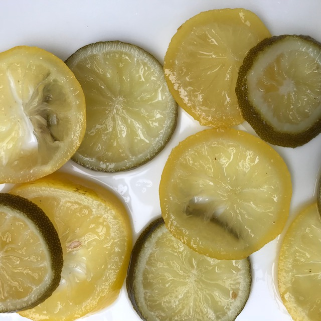 Candied Lemon and Lime Slices - cake decoration
