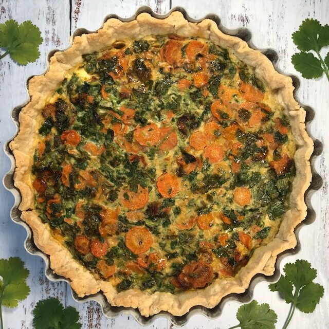 Carrot and Coriander Tart