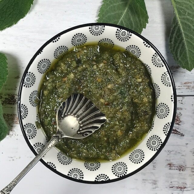 Mint and Walnut Pesto