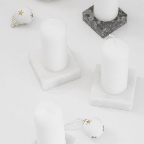 DIY Adventskranz selbermachen Upcycling Marmor Kerzenständer Tasteboykott