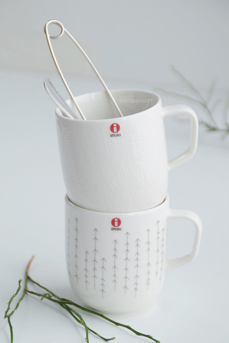 Favoriten im Januar Tasteboykott: Iittala Sarjaton Tassen weiß, feine Muster, skandinavisches Design Geschirr Tipp!