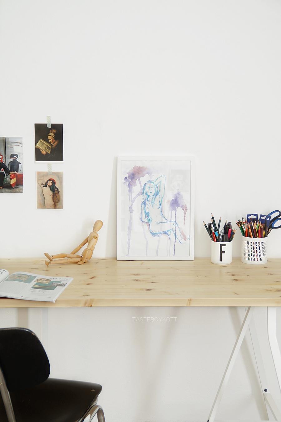 Mein Arbeitsplatz mit DIY Schreibtisch