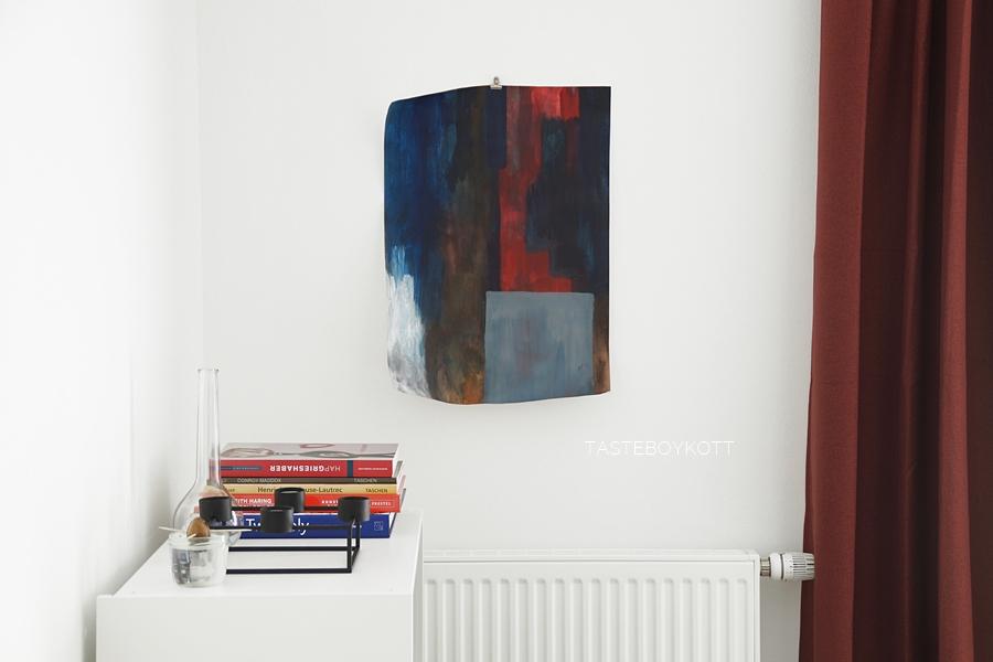 Abstrakte Malerei blau, rot, grau - Kunst-Update April 2019