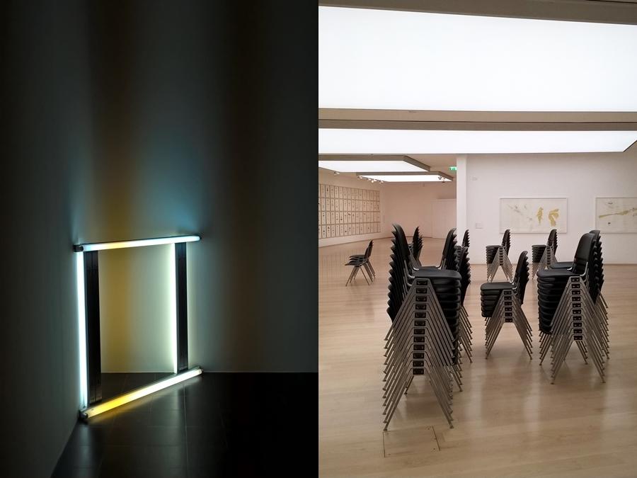 Dan Flavin in der Hamburger Kunsthalle und Jorinde Voigt Vernissage - September: 8 Dinge aus der vergangenen Woche.